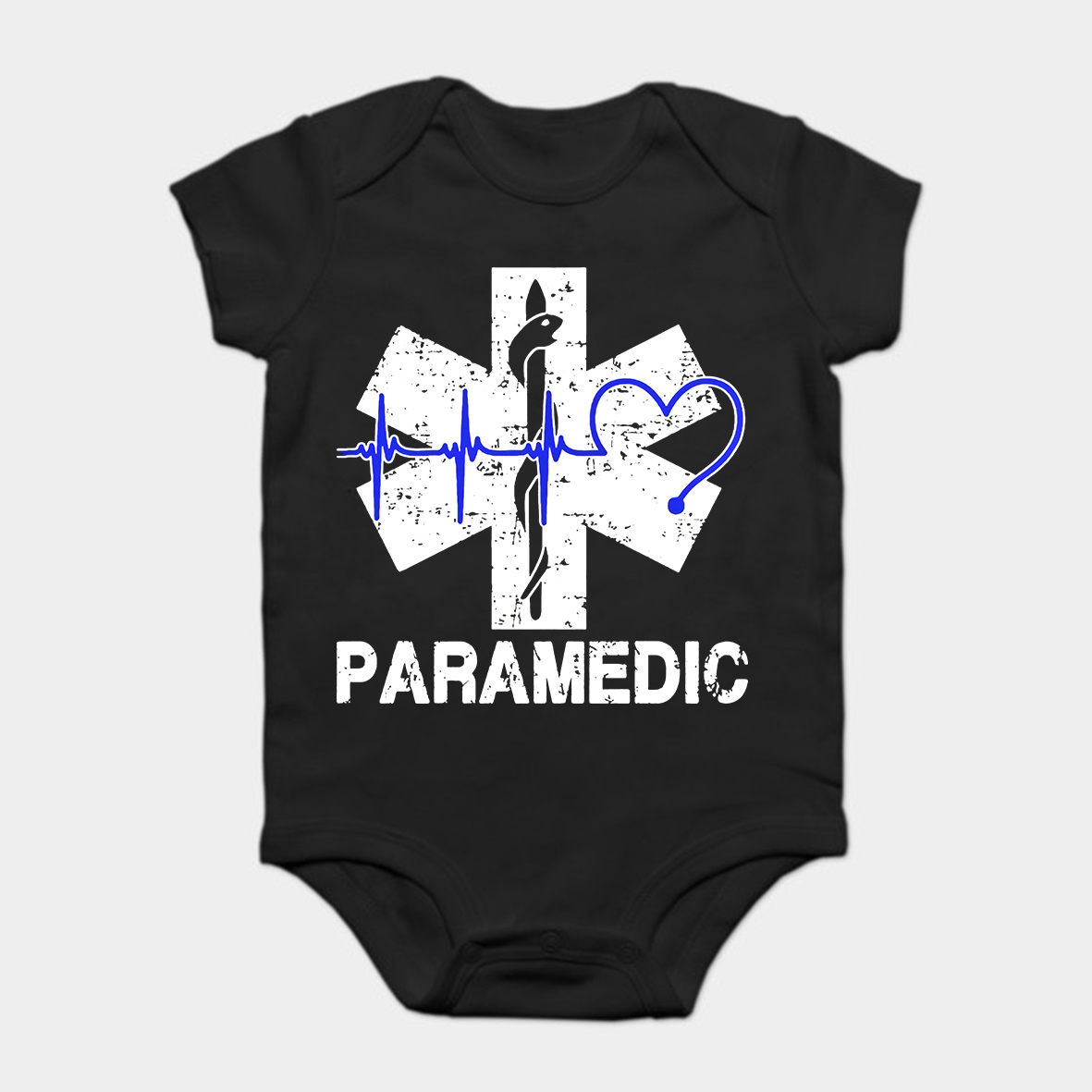 Baby Onesie Baby Bodysuits kid t shirt Funny novelty Paramedic Heartbeat Shirtcool(China)