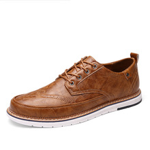 Brand Men Shoes Top Quality Oxfords British Style Men Genuine Leather Dress Shoes Business Formal Shoes Men Flats Plus Size стоимость