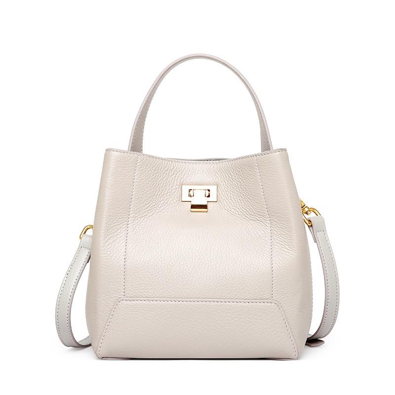 cow leather shoulder bag brand 2018 new Messenger Bag women 100% genuine leather handbag Fashion Bucket bag 2018 new brand genuine leather women messenger bag 100