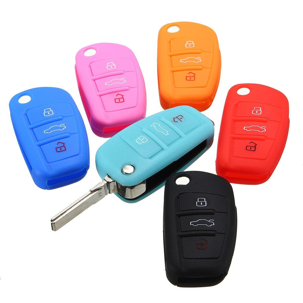 Силиконовые 3 Кнопки Smart Remote Брелок Крышка Для AUDI A3 A4 A6 A8 TT Q7 S6