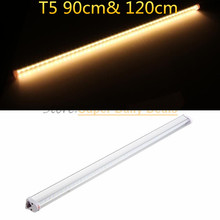 50pic/lot PVCT5 neon LED fluorescent Tube Light Lampada 90cm 120cm Integrated 0.9m 18W 1.2m 22W Light Lamp AC110V220V 240V White