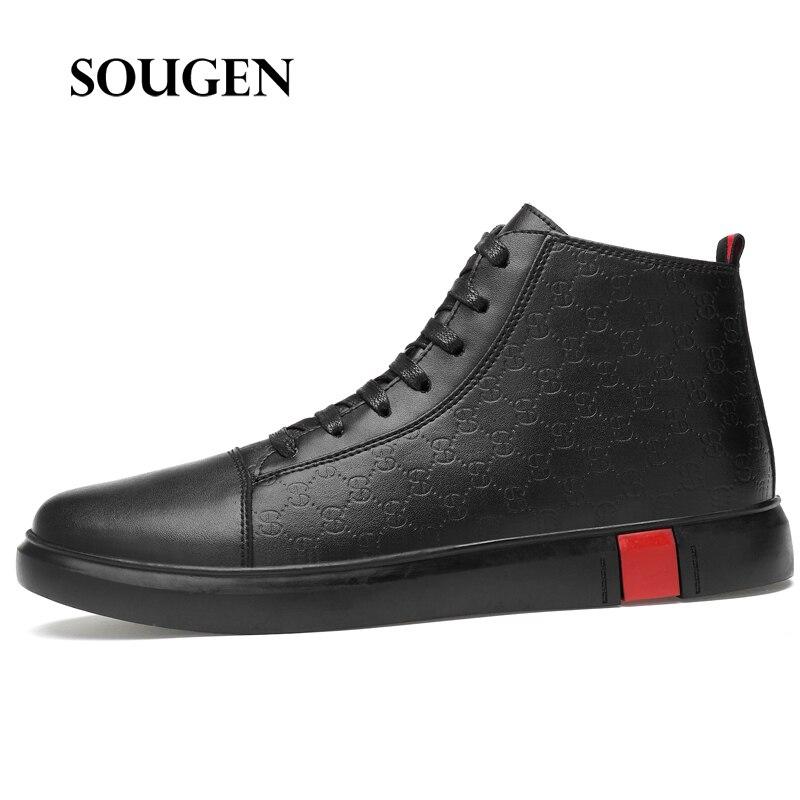 Pointure 38-46 chaussures Homme adulte Chaussure Homme Slip Espadrilles hommes baskets plateforme blanc cassé chaussures mode Homme 2019 formateurs