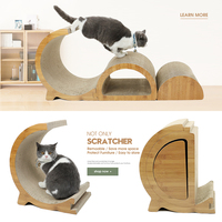 Pet Frame Scratching Post Kitten House Cat For Fun Suitable Cat Playing Training Cat Tree Cat Bed Kitty Scratch Post Foldable