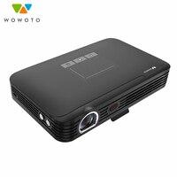 WOWOTO Мини проектор 4 к разрешение 650 люмен светодиодный полностью портативный проектор HD для дома кино автоматический фокус T9