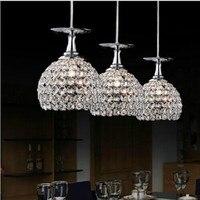 Современные K9 кристалл подвесной светильник абажур украшения дома Кафе светильник E27 110 240 В