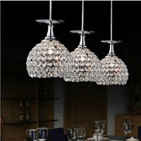 Modern K9 Crystal Pendant Light Lamp shade Decoration Home Parlor Luminaire E27 110 240V