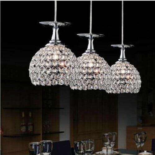 Modern K9 Crystal Pendant Light Lamp shade Decoration Home Parlor Luminaire E27 110-240V