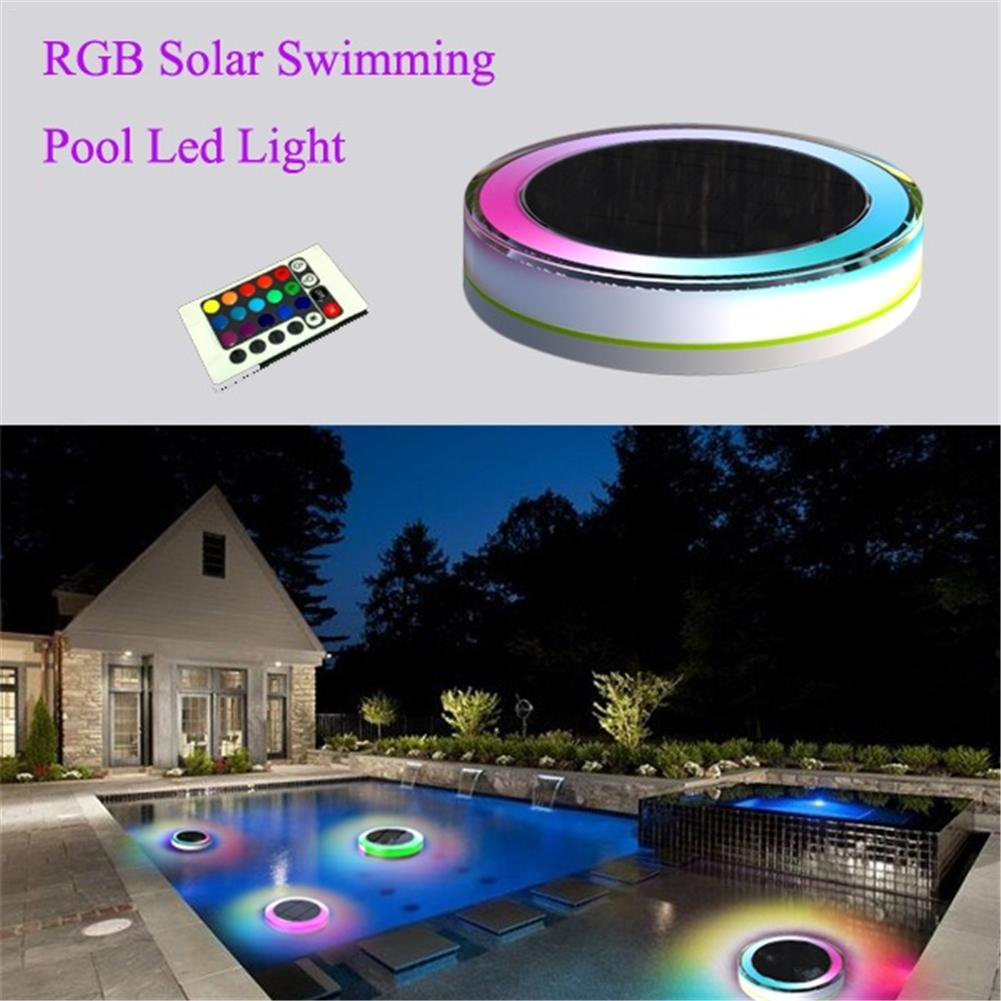 Solar LED Swimming Pool/Outdoor Pool Floating Lights Hotel Fountain Waterproof Decorative White Colorful LED Lights Can Remote