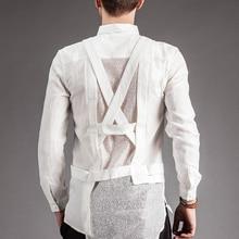 Мужская независимая летняя марлевая рубашка с длинным рукавом, Мужская M-XL одежда певицы, Высококачественная Мужская одежда