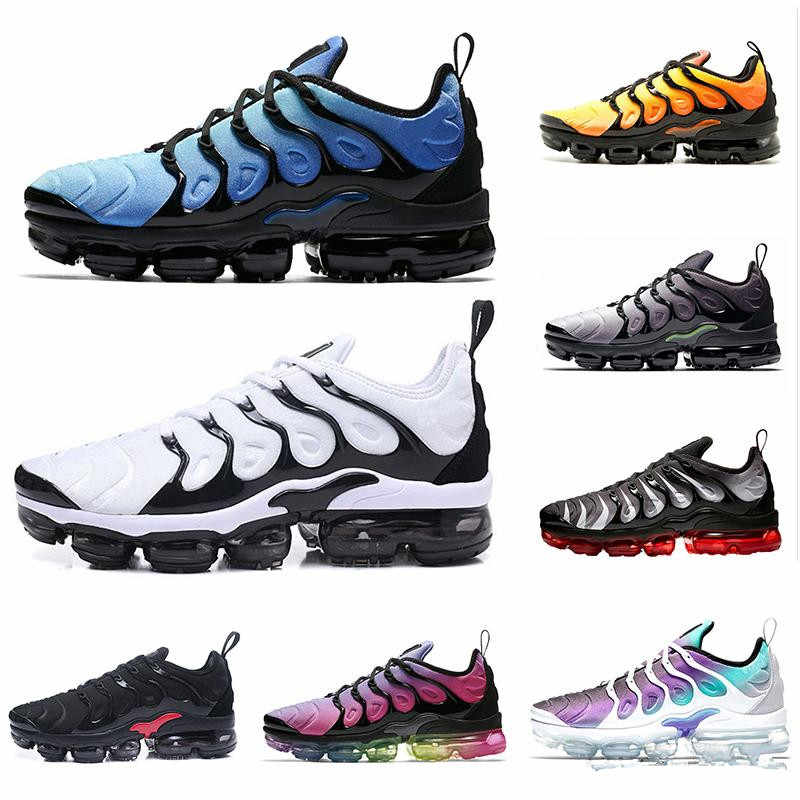 hot sale online 2064d f9e09 2019 Vapormax TN Plus VM Barely Grey In Metallic Women Men Running Sports  Designer Shoes For