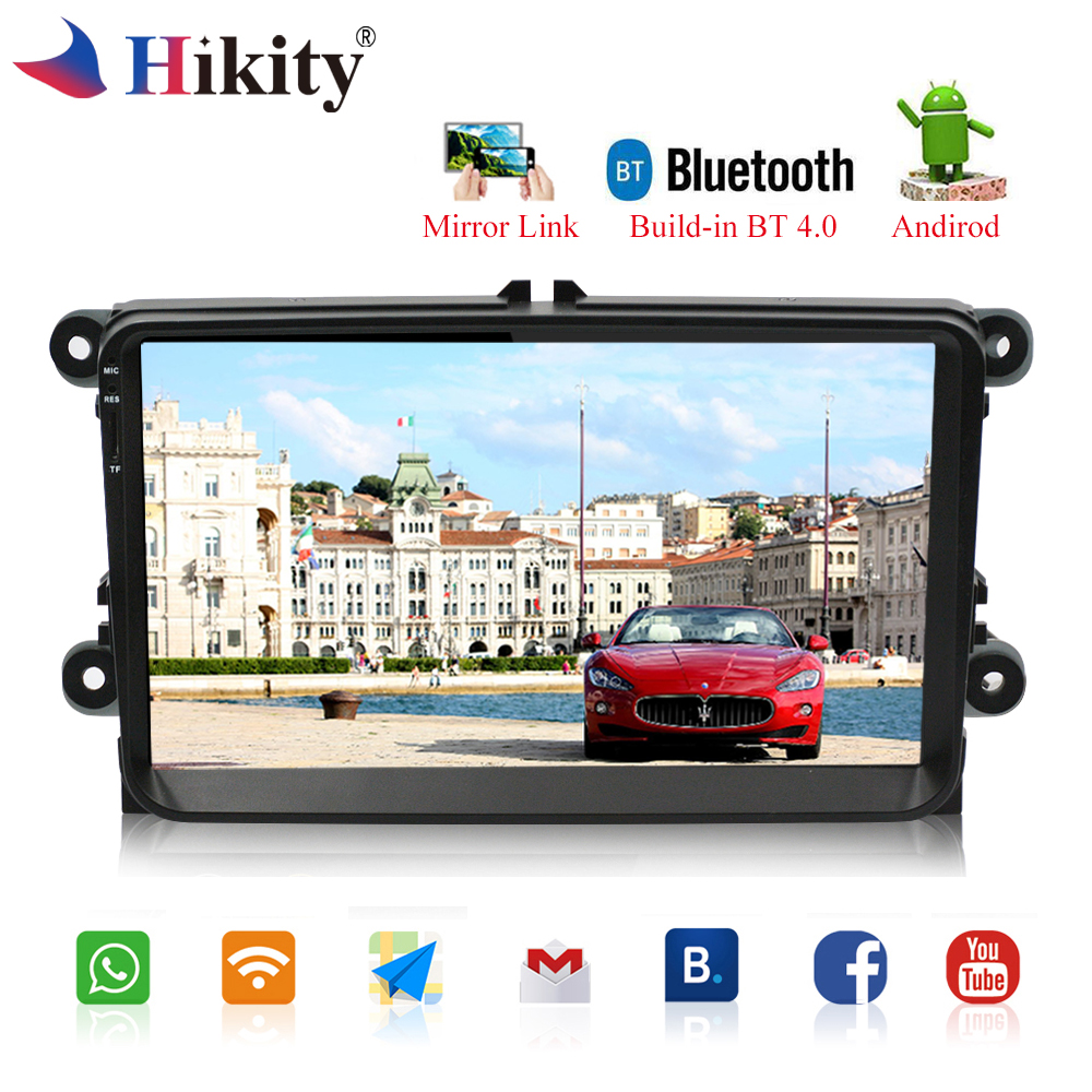 Hikity Android Car Radio 9 HD Wifi Autoradio Touch Screen GPS Bluetooth MP5 Multimedia Player Stereo FM/USB/1 Din Backup Camera amprime android 2 din 7 hd car radio touch screen autoradio gps navigation multimedia mp5 player support wifi bluetooth usb fm