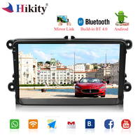 Hikity Android Car Radio 9 HD Wifi Autoradio Touch Screen GPS Bluetooth MP5 Multimedia Player Stereo FM/USB/1 Din Backup Camera
