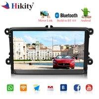 Hikity android автомагнитолы 9 HD Wifi Авторадио Сенсорный экран gps Bluetooth MP5 мультимедийный плеер стерео FM/USB/ 1 Din резервного копирования Камера