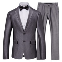 Three season 2 dresses to wear men's suit trend English cultivate one's morality handsome business casual wedding suit