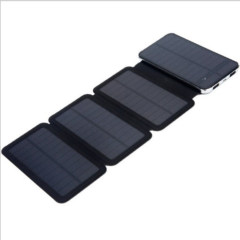 Solar Battery Charging By Outdoor Sun Lights Energy External Battery 4x Solar Panels 6W Fast Charger
