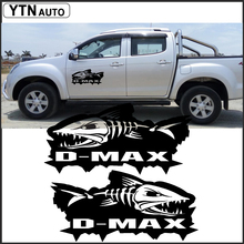 free shipping 2PC Piranhas sticker decal vinyl off road 4x4 for dmax adventure mud
