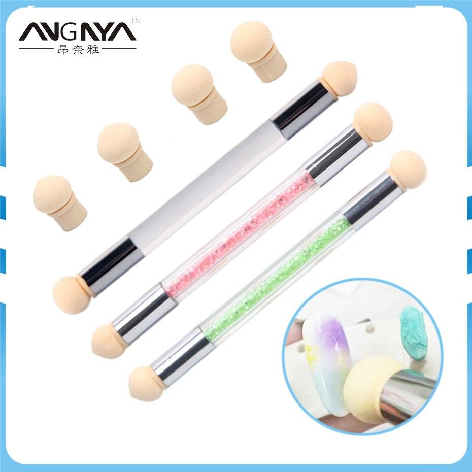10Pcs 네일 스펀지 브러쉬 UV 젤 페인팅 네일 - 네일 아트
