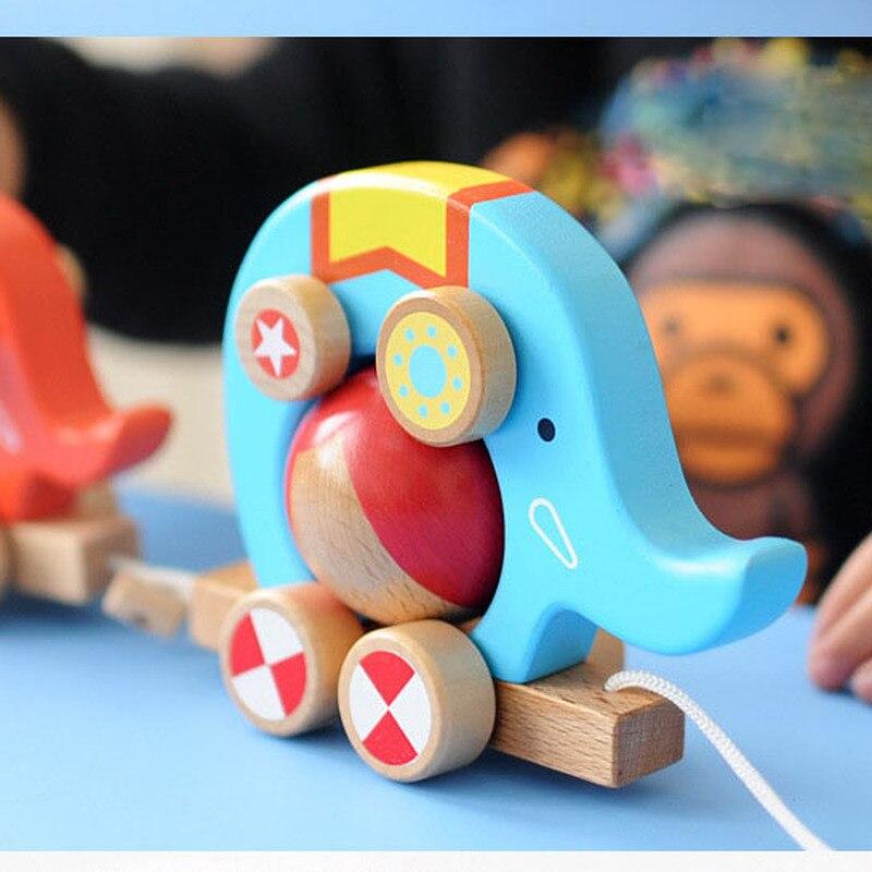 New 2 Elephant Haulers Fun Roller Design Toddler Children's Educational Toys Children's Cognitive Clockwork Toy