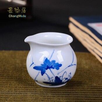 Changwuju in Jingdezhen teapot the hand painted blue and white Kung-Fu tea fair cup by handmade puer tea longquan celadon