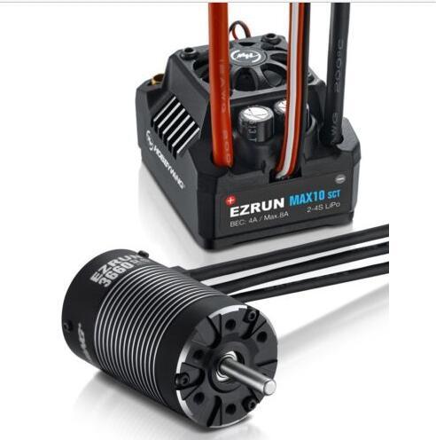 Hobbywing EZRUN MAX10 SCT 120A sans balai ESC + 3660 G2 3200KV/4000KV/4600KV moteur sans capteur pour voiture 1/10 RC