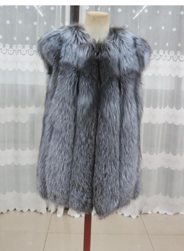 Vêtements silver Rouge Fur Prix Outwear Silver Renard Fox D'hiver Gilet Fur Femelle Fourrure De Femmes Red Véritable 2019 Réel Bon Naturelle AOwnqgBxH