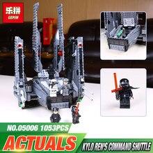LEPIN 05006 Hot Sale 1053pcs Star Wars Kylo Ren Command Shuttle 75104 Blocks Kid s Toys