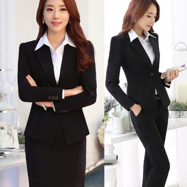 2017 uniformes banco lobby gerente macacão seguros financeiros executivos terno carreira das mulheres outono e inverno