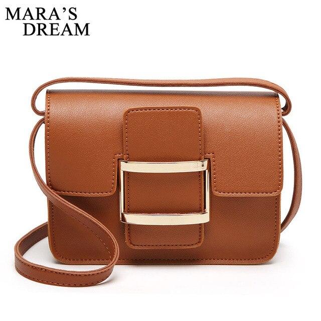 9abf35eb7c Mara s Dream 2018 Women Crossbody Bags Oli PU Leather Messenger Bag Solid  Color Hasp Purses Women Bag Fashion Shoulder Bags