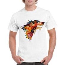 New Arrivals Dracarys T-shirt Game of Thrones tshirt Dragon Mens Tshirt Wolf Print Casual T shirt Summer Cotton Short Sleeve