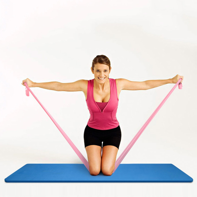 Fitness Equipment – Elastic Exercise Resistance Bands – Workout For Yoga