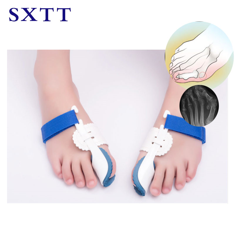 SXTT Toe Thumb valgus Correction Night Corrector Thumb Foot Brace Flat Feet Relieve Pain Comfortable Shoes Orthotic Insoles thumb valgus corrector large bone can wear shoes big toe divider day and night adults available