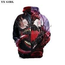 Superhero The Avengers 3 Spiderman Iron Man Hoodies Iron Spider man Venom Black Panther Spider-Gwen Pullover Sweatshirt  XS-7XL