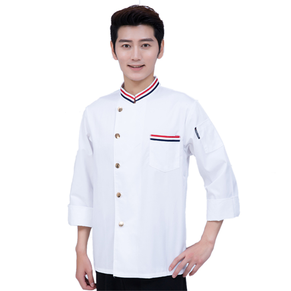 High Quality  Autumn & Winte Long Sleeve Professional Head Chef Uniform Restaurant Hotel Kitchen Man/woman Work Jacket