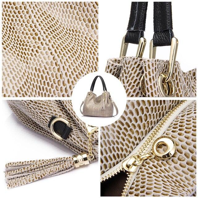 Realer woman handbags genuine leather bag female hobos shoulder crossbody bags high quality leather totes women messenger bag 3