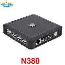 Поддержка Winows 7/Vista/Linux/XP ОС Тонкий клиент Чистая компьютер PC станции встроенный сервер N380 Win CE 6.0