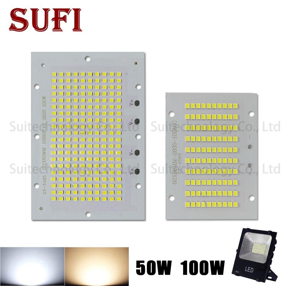 50W 100W Full Power LED Floodlight SMD2835 Led Lighting Source Led PCB Board Aluminum Plate For 50 100 W Watt Floodlight