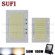 Projecteur LED pleine puissance 50W 100 W SMD2835, Source d'éclairage led PCB plaque en aluminium pour projecteur 50 100 W