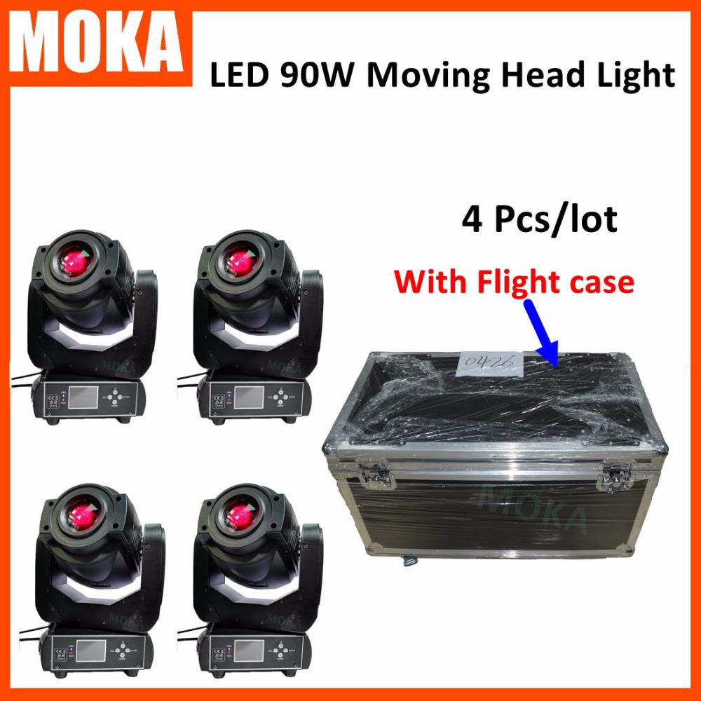 4 Pcs/lot Fast Shipping High-end Zoom 90W Washing Led Moving Head Stage Light With Road Case for Bar DJ high quality silk 35mm 200m blank washing mark high end laundering tags for garment provide custom order