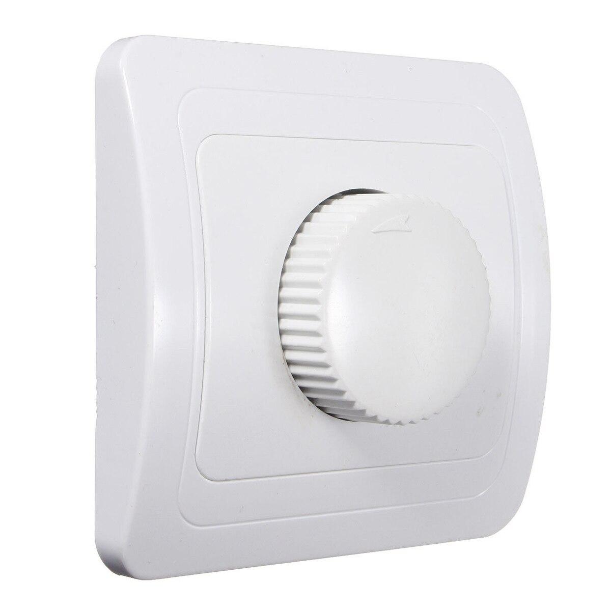 CNIM Hot 110V / 220V Adjustable Controller Dimmer Switch For Dimmable Light Bulb Lamp White bedroom silver tone knob adjustable light controller dimmer switch