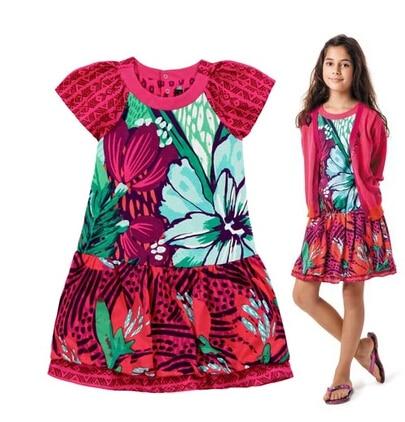 2017 new summer French style girls flower print short  princess tutu dresses baby Catimini designer dress 3-12Y catimini girls t shirt 04 25