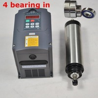 CNC spindle 1.5kw ER16 air cooled SPINDLE MOTOR 4 bearing in for cnc milling machine & matching frequency inverter