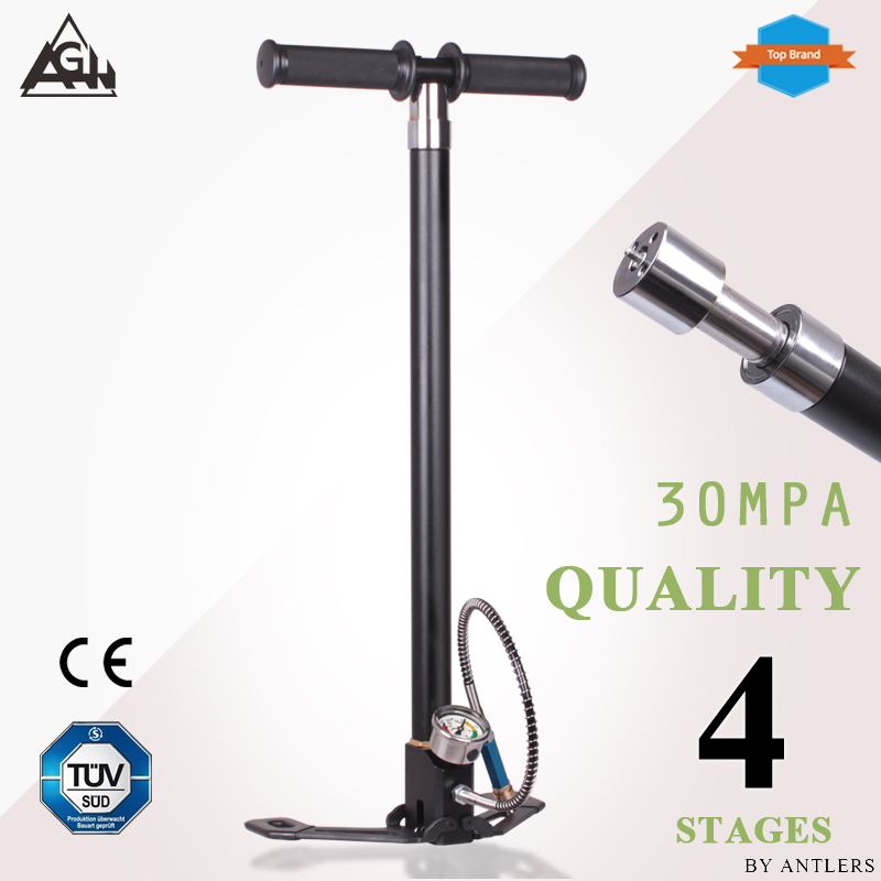 30Mpa 4500psi Air PCP Paintball Pump Air Rifle hand pump 4 Stage High pressure with filter