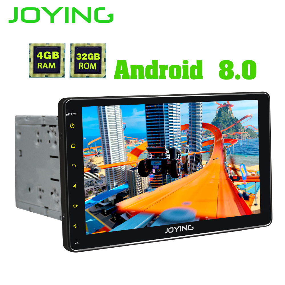 JOYING 9'' 2 din Car Radio 4gb Ram Android 8.0 HD PX5 Octa Core Universal head unit GPS system support Carplay Wifi Fast Boot joying 1 din android 8 0 car radio with free dvr camera bluetooth 8 8 px5 octa core recorder head unit system autoradio carplay
