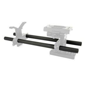 Image 5 - NICEYRIG varilla doble de soporte rápido para cámara DSLR, rieles rectos de 15mm, aparejo de fibra de carbono ligero