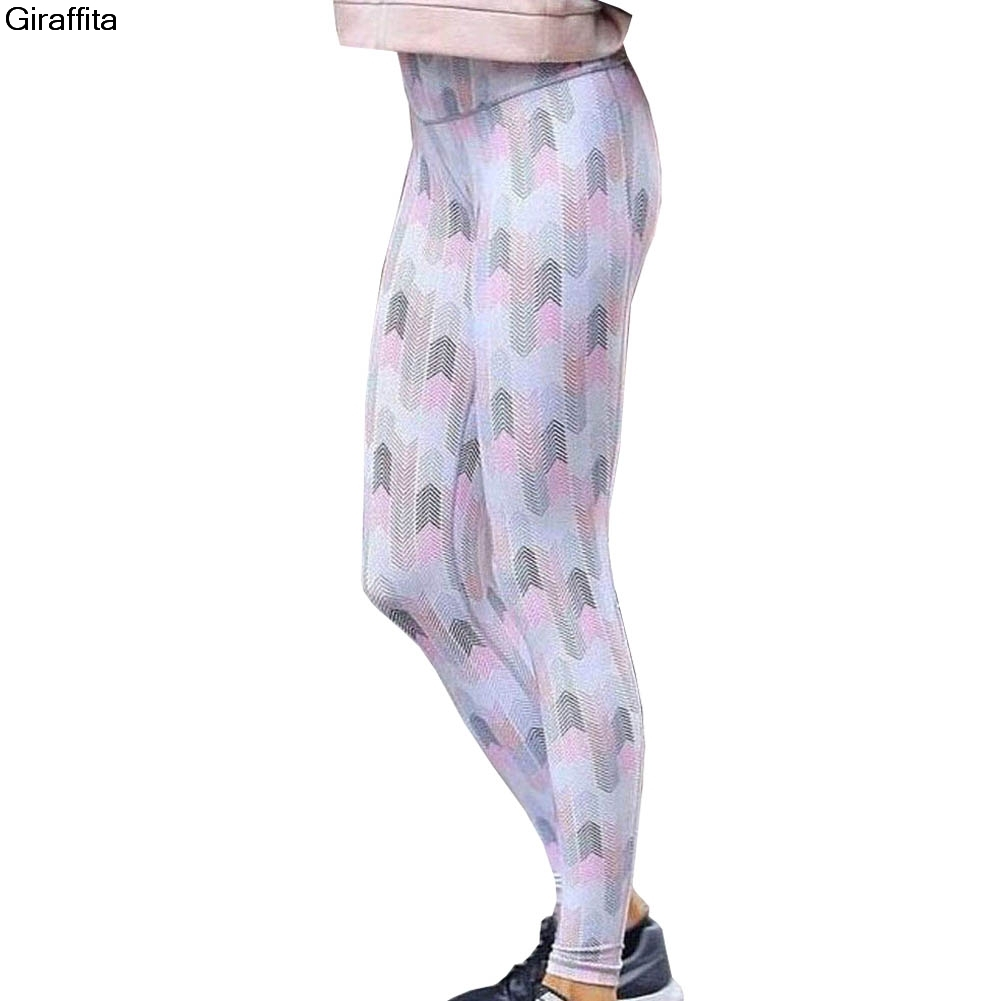 Fashion Printed Pants Women High Waist Printing Floral Fitness Push Compression Comfortable Pants