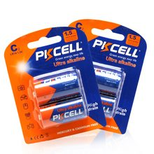 4 adet PKCELL 1.5 V C LR14 Ultra Alkalin Piller 114A U11 MN1400 Tek Kullanımlık Piller Özel için Yüksek Drenaj cihazlar