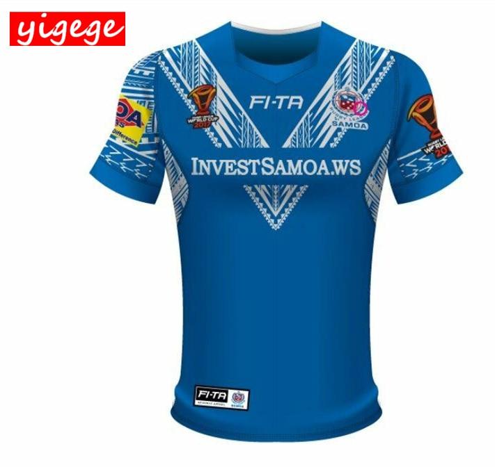 dba9b33ea32 New Zealand 2017 SAMOA World Cup rugby Jerseys rugby shirt samoa Jersey  League shirts S-