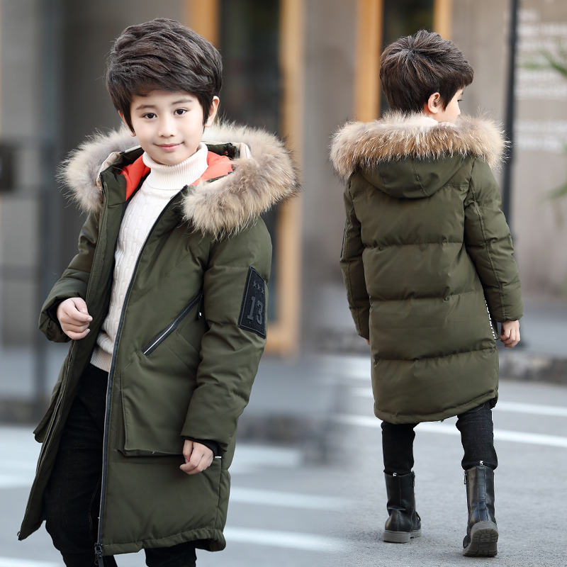 Boys Winter Tops Feather Down Jackets Thicken Warmly Fur Hooded Children Coat Big Boys 16 14 12 10 years Kids Winter CoatsBoys Winter Tops Feather Down Jackets Thicken Warmly Fur Hooded Children Coat Big Boys 16 14 12 10 years Kids Winter Coats