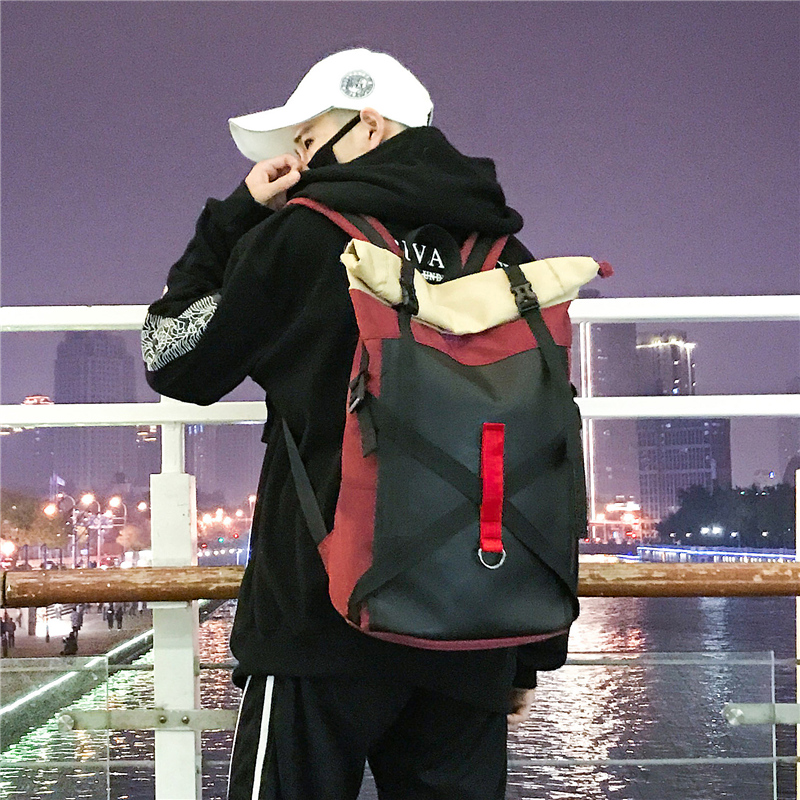 Harajuku Street Fashion Backpack Women Men Korean Ulzzang Hip hop Large Capacity Travel Bag Teenager Leisure Oxford School Bags
