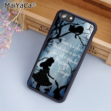 MaiYaCa Alice in wonderland quote silhouette Phone Case Cover For iPhone 5  5s SE 6 6s 36744e7bbb18
